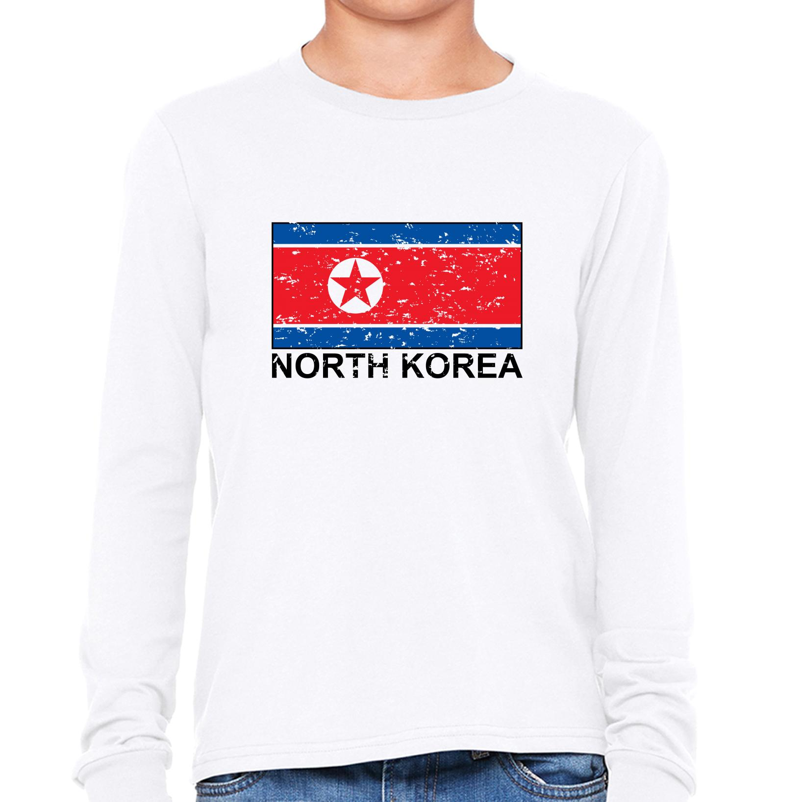 North Korea Flag Special Vintage Edition Girl