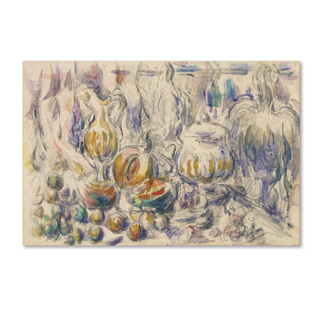 Trademark Fine Art 'Pot And Soup Tureen' Canvas Art by Cezanne