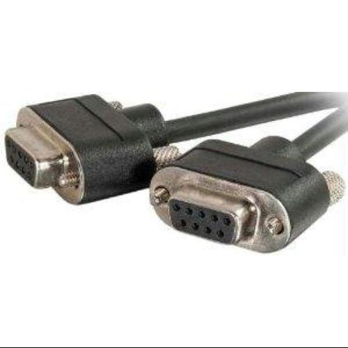C2g 25ft Cmg-rated Db9 Low Profile Null Modem F-f - Serial For Modem - 25 Ft - 1 X Db-9 Female Serial - 1 X Db-9 Female Serial - Shielding - Black (52179)