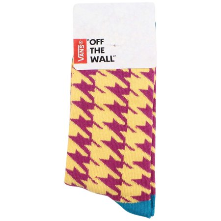Vans Girls' Kaley Crew Graphic Socks-Mustard/Purple-1-6 (Mustard/Purple, 6-Jan)