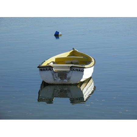 LAMINATED POSTER Faro Small Boat Boat Sea Olhao Tender Portugal Poster Print 11 x