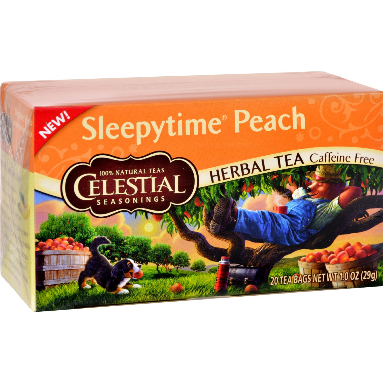 Celestial Seasonings Herbal Tea Sleepytime Peach - (Case of 6) - 20 Bag