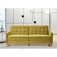 """Stetson Velvet 80"""" Square Arms Sofa Bed"""