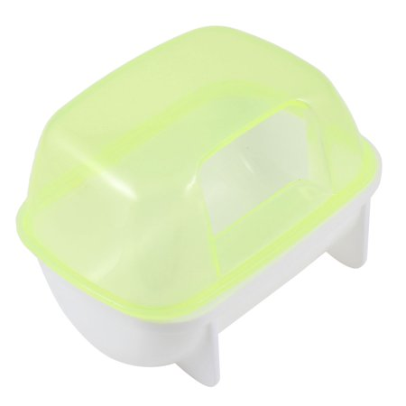 Unique Bargains Double Hole Pet Hamster Bathroom Sauna Sand Room Light Yellow