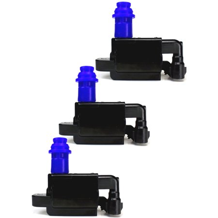 Naturally Aspirated Gas Stage (Set of 3 Ignition Coil Packs For 1998 Lexus SC300 3.0L L6 GAS DOHC Naturally Aspirated Compatible with UF228 C1153)