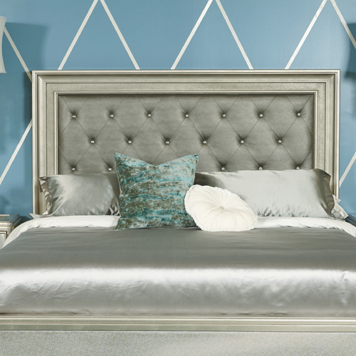 Samuel Lawrence Platinum Upholstered Panel Headboard