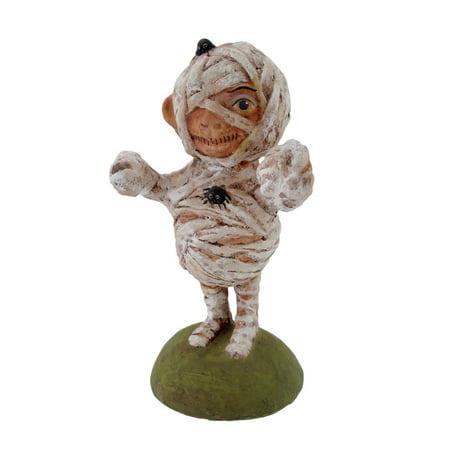 Mummy Boy  Paper Mache Figure By Bethany Lowe