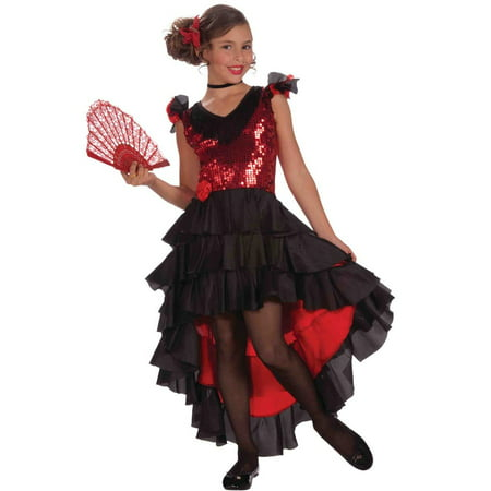 Spanish Dancer Costume - Child (Can Can Dancer Costumes)