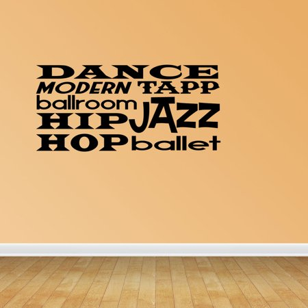 Dance Sayings Collage Girl Tapp Ballet Jazz Modern Ballroom Sports Decal PC406 (Dance Sayings)