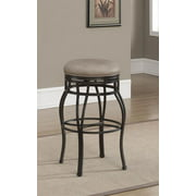 Bella Backless Bar Stool in Aged Sienna (Counter Stool-17.5 in. W x 17.5 in. D x 26 in. H)