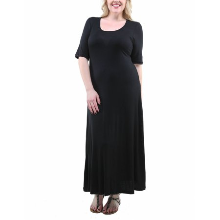 24/7 Comfort Apparel - Women\'s Plus Size Maxi Dress ...