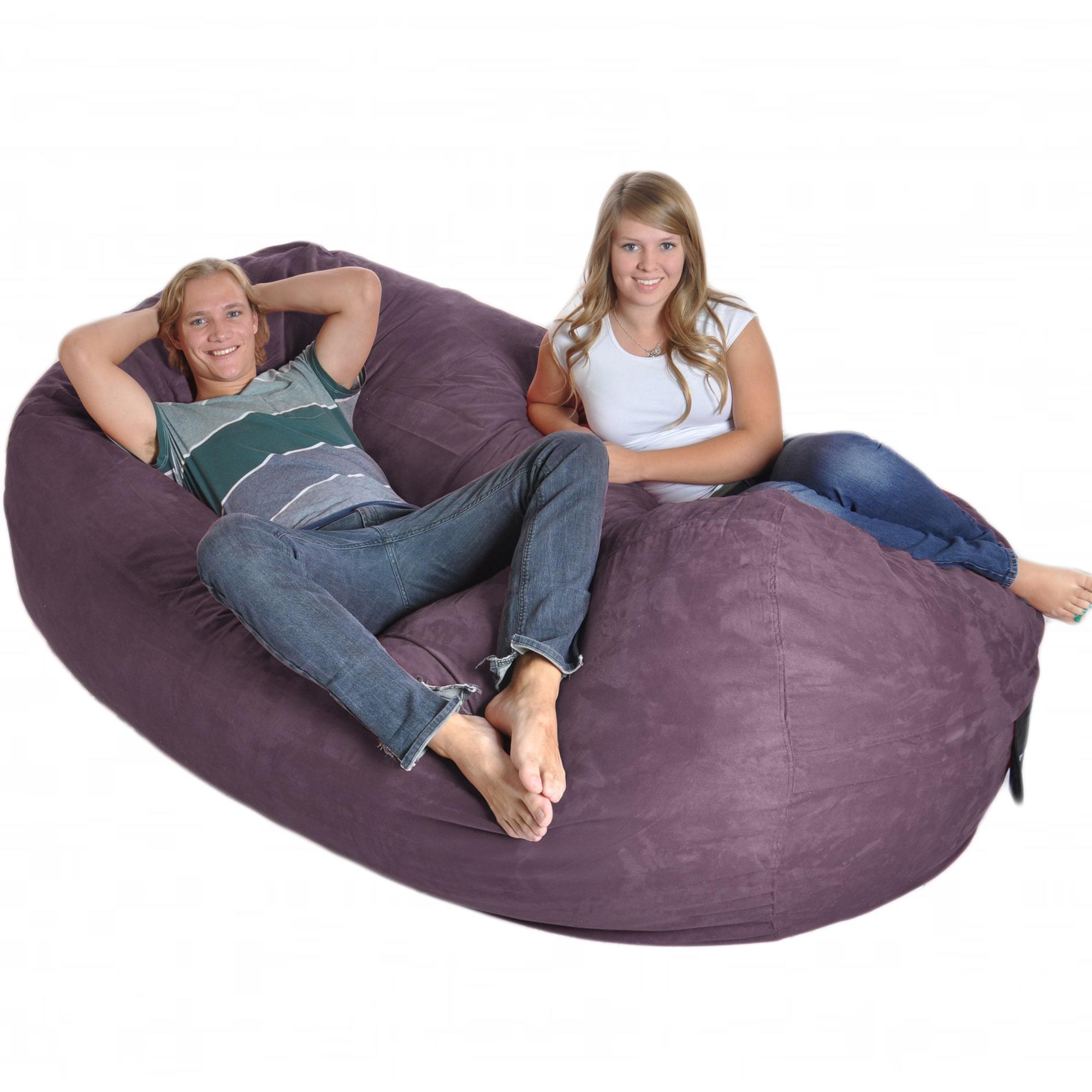 Slacker Sack Purple 8-foot Oval Microfiber/ Memory Foam Bean Bag