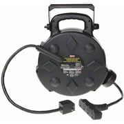 BAYCO SL-8906 50 ft. 12/3 Polymer Cord Reel,w/All Weather Cord 15 Amps 4 Outlets