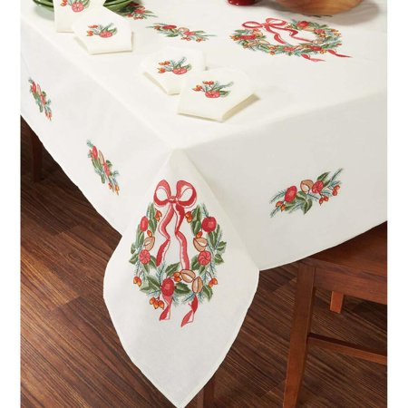 Candy Tables (Craftways Candy & Apples Wreath Tablecloth Stamped)