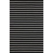Liora Manne Sorrento Pinstripe Black Indoor/Outdoor Area Rug