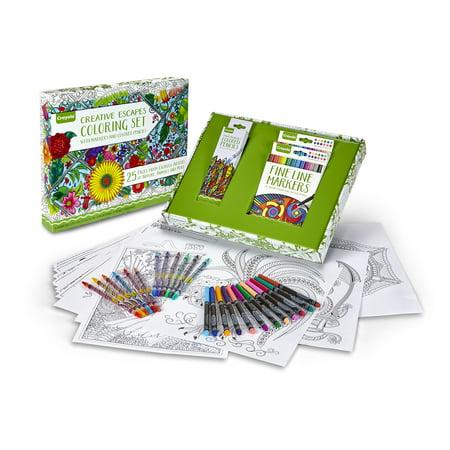 Crayola Adult Coloring Book Marker Art Activity Set Walmart Canada