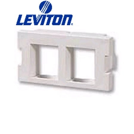 Leviton 41291-2QI 2-Port QuickPort Adapter MOS Insert - Ivory