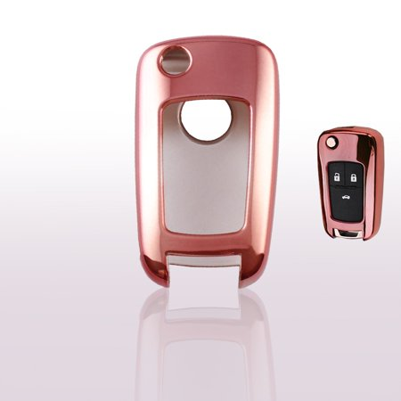 Xotic Tech 1X Smart Remote TPU Key Soft Fob Cover Case Rose Gold For Chevy Chevrolet Cruze Malibu