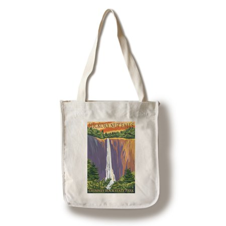 Chimney Rock State Park, NC - Hickory Nut Falls - Lantern Press Poster (100% Cotton Tote Bag - Reusable) ()