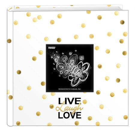 Pioneer Photo Albums Golden Dots Live Laugh Love Designer Photo
