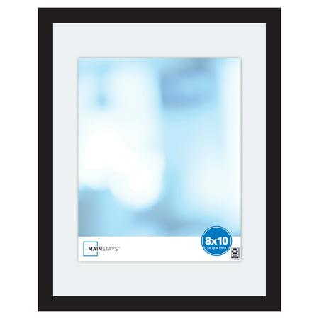 Mainstays 11x14 Wide Float Picture Frame, Black Finish Photo Framed Uda Upper Deck