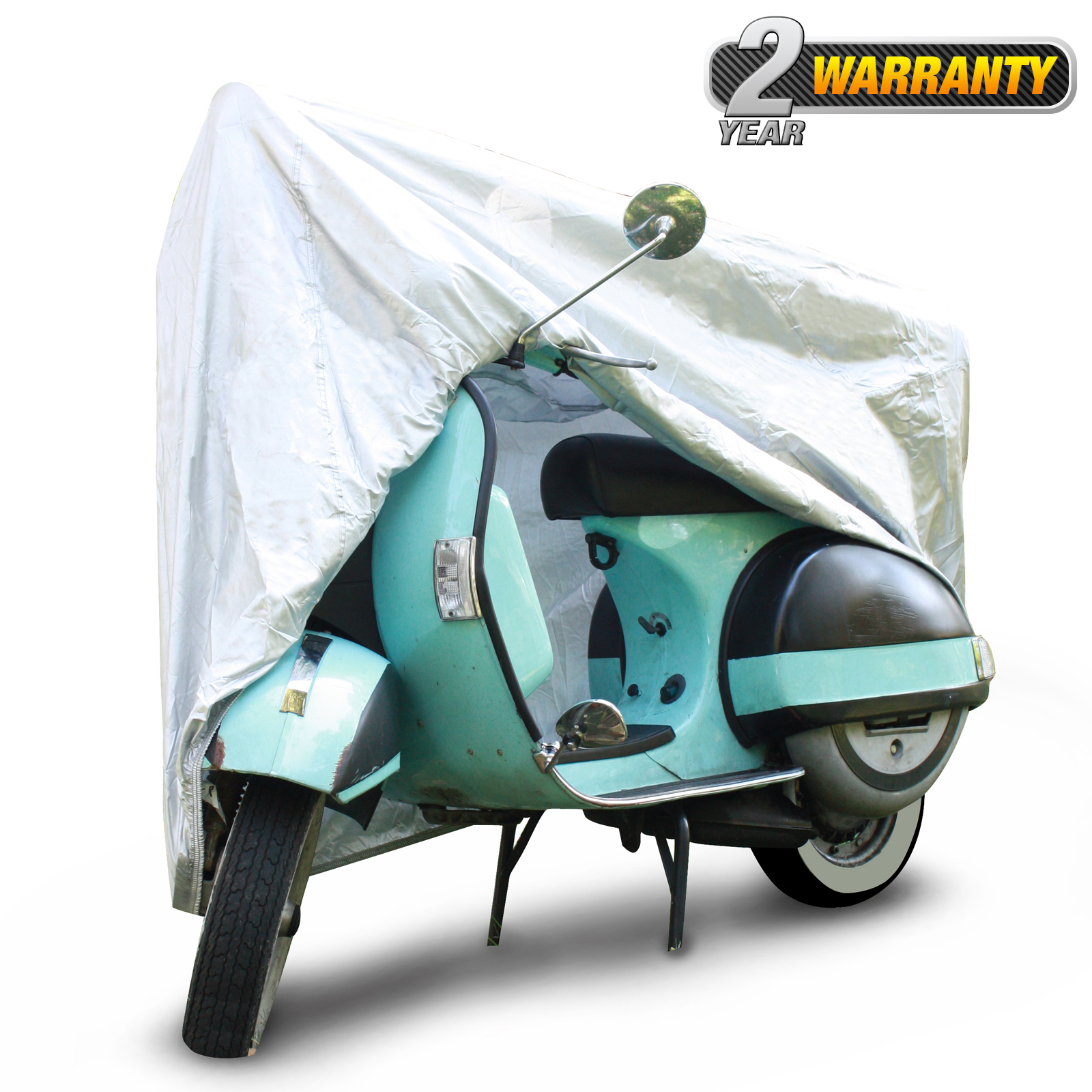 """Standard Outdoor Scooter Cover, UV Resistant Cover (Silver), Size SC-1: Fits up to 49"""" L"""