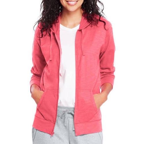 Women's Slub Jersey Cotton Full Zip Hoodie by Hanes