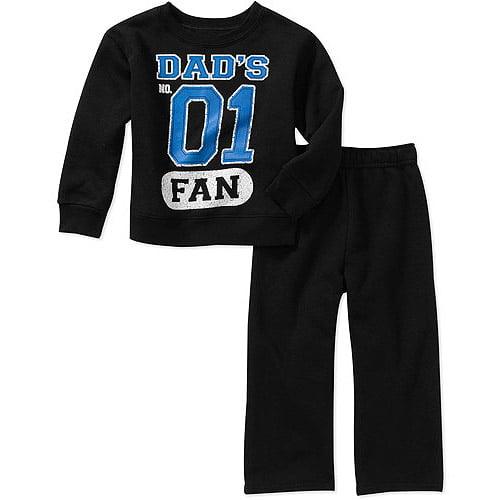 Garanimals Baby Boys' 2-Piece Graphic Fleece and Pant Set