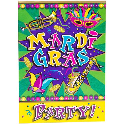 Mardi Gras Party Invitations, 8-Count