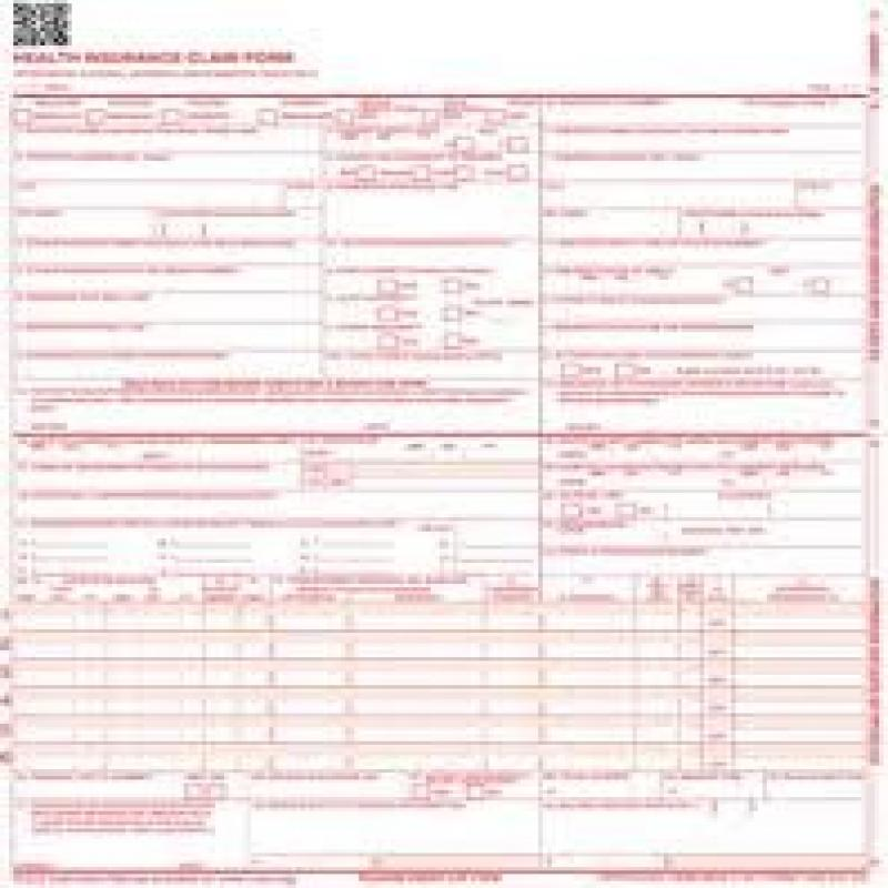 CMS-1500 Laser Printer Medical Claims Form - 2500 forms