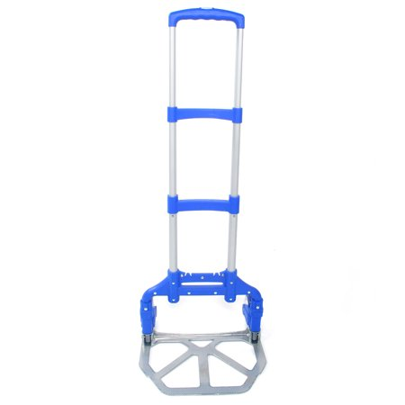 Image of Folding Hand Truck Aluminum Portable Folding Hand Cart Capacity Hand Cart, Auto, Office,Travel Use,Blue