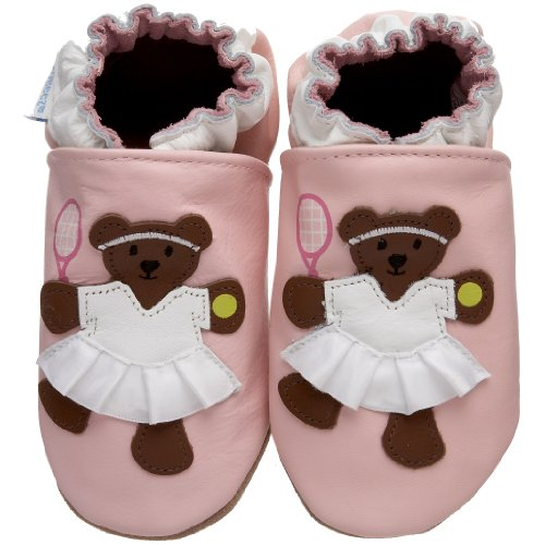 Robeez Soft Soles Tennis Bear Pre-Walker Slip On (Infant Toddler),Pastel Pink,18-24 Months (6.5-8 M US Toddler) by