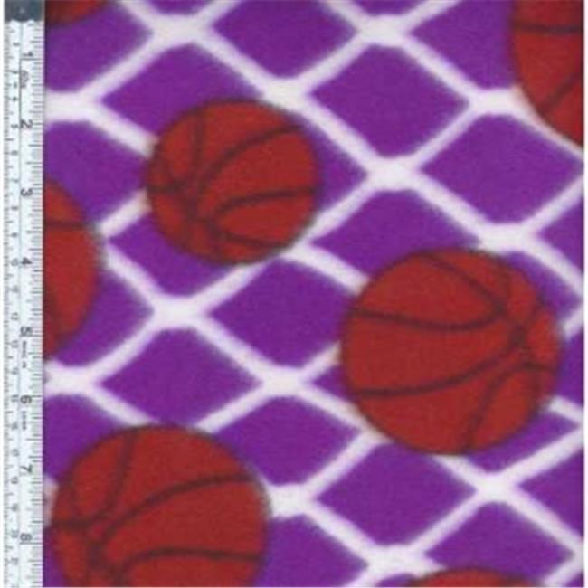 Textile Creations MFP-303-40 Sport Fleece, Basketballs Orange & White