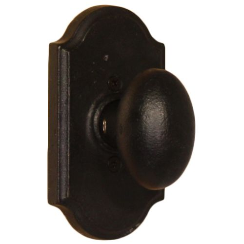 Weslock 7105M Durham Single Dummy Door Knob with Premiere Rose from the Molten Bronze Collection