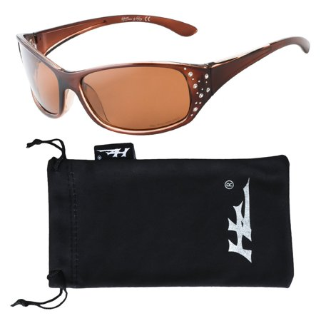 HZ Series Elettra - Women's Premium Polarized Sunglasses by Hornz - Honey Amber Frame - Amber Lens Persol Gray Polarized Frame