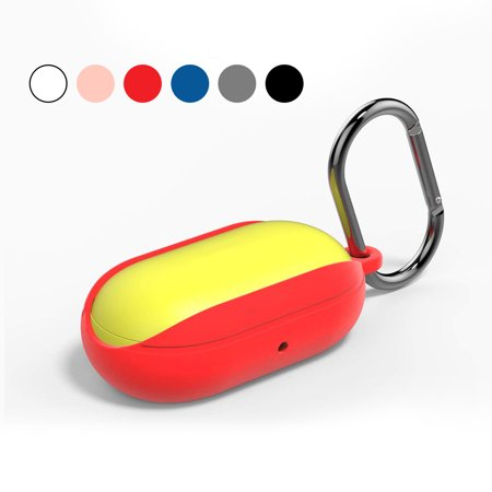 EEEKit Protective Silicone Case Cover with Carabiner Compatible with Samsung Galaxy Buds