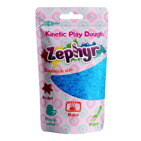 Zephyr Kinetic Play-Dough in Doy Pack (Blue) Kinetic plasticine Modeling Clay Polymer Clay Could be Baked](Halloween Plasticine Models)