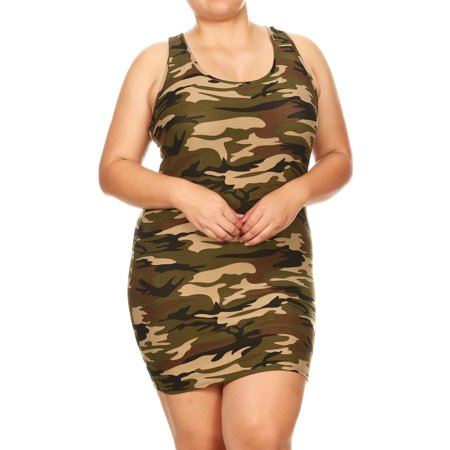 Moa Collection - Women\'s Plus Size Camouflage Racerback Tank ...