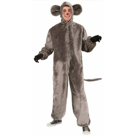 Halloween Plush Gray Mouse Adult Costume (Grey Mouse Halloween Costume)