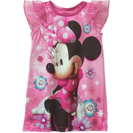 Minnie Mouse Toddler Girl Flutter Sleeve Nightgown