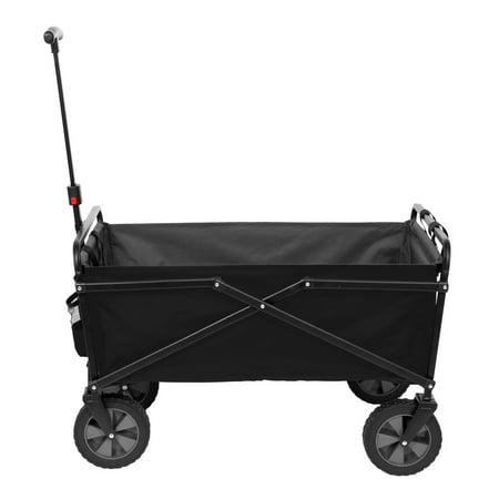 Seina Manual 150 Pound Capacity Heavy Duty Folding Utility Cart, Black/Gray - image 4 de 5