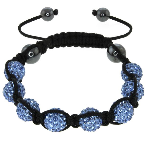 Stunning Adjustable Bracelet with 10MM Blue Color Disco Balls