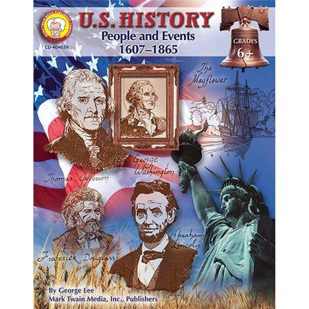 Carson Dellosa CD-404039BN 2 chacun Histoire am-ricaine Gens et -v-nements 1607-1865 Livre de ressources - image 1 de 1