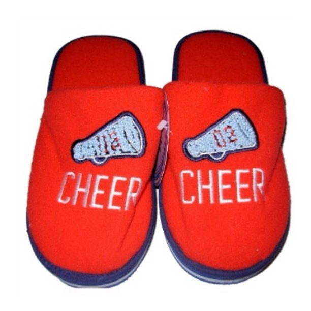 Holiday Holiday Womens Red Cheer House Slippers Cheerleader Large X Large Walmart Com Walmart Com