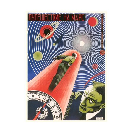 Russian Space Film Poster Print Wall Art