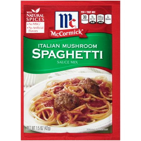 McCormick Italian Mushroom Spaghetti Sauce, 1.5 oz