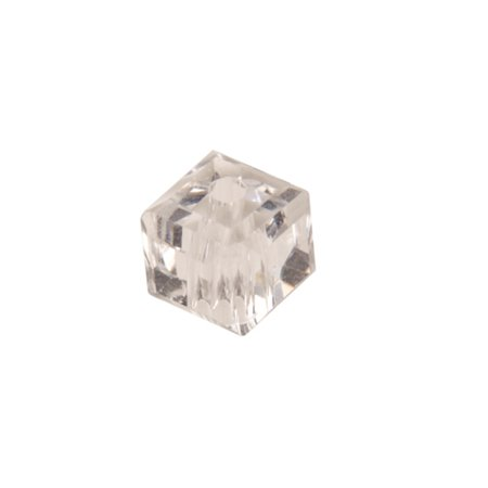 Clear Ab Cube Crystal Beads 4mm, 90 Beads / string of 16 inchs ()