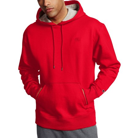 ca6fcab81973 Champion Men s Powerblend reg  Fleece Pullover Hoodie - Team Red Scarlet -  2XL - Walmart.com