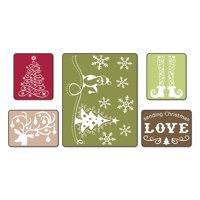 Sizzix TIEF 5PK - Sending Christmas Love Set by Rachael Bright