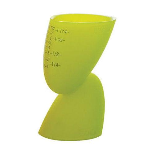 Casabella Silicone Measuring Jigger   Shot Glass Orange Blue or Green (Green) by Casabella